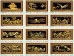 Tranh mạ vàng 24k MV017-Đại triển hoằng đồ