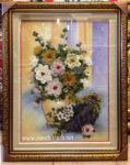 Tranh đá quý, Tĩnh vật bình hoa-TD058