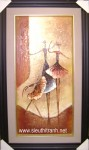 Tranh sơn dầu S116-Trừu tượng vũ công