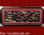 Tranh phù điêu-Cửu ngư quần tụ-K02