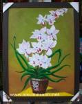 Tranh sơn dầu S179-Chậu Lan