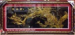 Tranh nhung đồng K019-Mộc long đào hoa