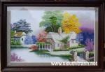 Tranh thêu chữ thập-Ngôi nhà hạnh phúc-TCT23