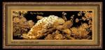 Tranh đồng mạ vàng 24k -phú quý viên mãn -MV31