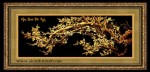 Tranh đồng mạ vàng 24k -mai khai phú quý-MV25