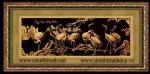 Tranh đồng mạ vàng 24k-Tùng hạc diên niên-MV26