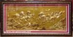 Tranh nhung đồng đúc nổi K015-Mã Đáo