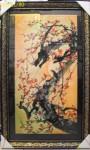 Tranh in mộc long đào hoa-IN037