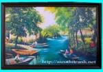 Tranh ép gỗ-Dòng sông Nga-V35