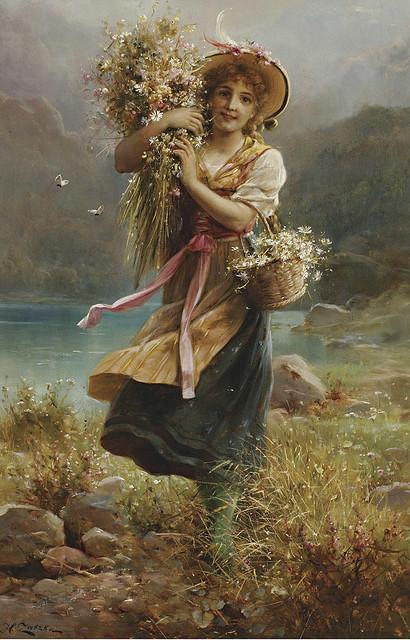 Vẻ đẹp xuân thì trong tranh Hans Zatzka