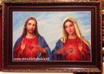 Chúa giesu & mẹ maria -C27 ( in dầu ép foam )