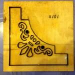Hoa văn đóng góc giấy bo-X101