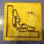 khuôn đóng góc tranh thêu-X105
