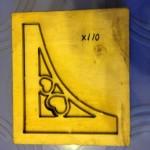 Góc đóng giấy bo hoa văn tranh-X110
