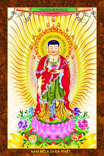 Phật ADIDA 217 (ép laminater đổ bóng)
