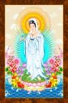 Phật Quán Thế Âm 229 (ép laminater đổ bóng)