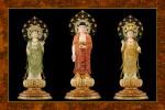 Phật Tam Thánh 23B (ép laminater đổ bóng)