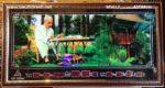 Bác Hồ ngồi làm việc trong vườn hoa phủ chủ tịch- MS617