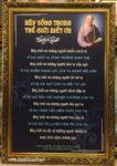 Tranh chữ Lời Phật dạy 228 in dầu cao cấp