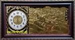 Tranh đồng-đồng hồ -Song mã-a134