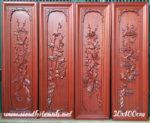 Tranh gỗ hương bộ tứ quý bốn mùa- TG070
