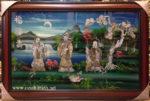 Tranh khảm trai sơn mài, Phúc Lộc Thọ- SM183