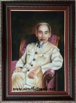 Chủ tịch Hồ Chí Minh,trong điện Kremlin (tranh đá quý -TD127)