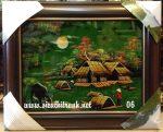 7 mẫu tranh vẽ sơn mài Đồng Quê -SM225