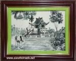 Tranh sứ, chùa một cột -G158