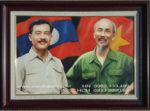 Tranh sơn dầu, Bác Hồ với Hoàng Thân Xuphanuvông -S223