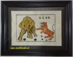 Tranh Đông Hồ, voi hổ tranh hùng-TDH134