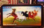 Tranh vẽ sơn mài, Bát Tuấn Hùng Đồ -SM178
