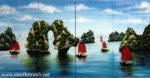 Tranh bộ ghép sơn mài, Ha Long Bay – SM252
