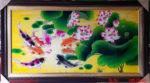 Tranh sơn mài, Cửu ngư hội tụ- SM246