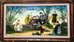 Trúc Lâm Thất Hiền ( tranh sơn mài – SM240 )