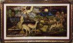Tranh đắp phù điêu sơn mài, Tùng Lộc -SM242