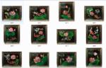 12 sản phẩm tranh sơn mài Hoa Sen Cá Chép -SM253