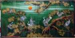 Tùng hạc diên niên ,Tranh sơn mài khảm trai -SM254