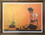 Thiếu nữ ,tranh in dầu -IN49