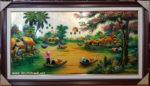 Tranh sơn mài, bức họa đồng quê- SM263