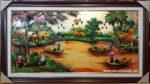 Tranh sơn mài, bức họa đồng quê- SM264
