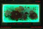 Tranh thêu chữ thập kết hợp đèn led lịch vạn niên, hoa mẫu đơn-2075