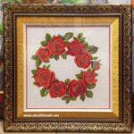 Tranh thêu chữ thập hoa hồng tình yêu-CT67