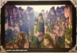 Tranh phong thủy cảnh núi đá- IN51