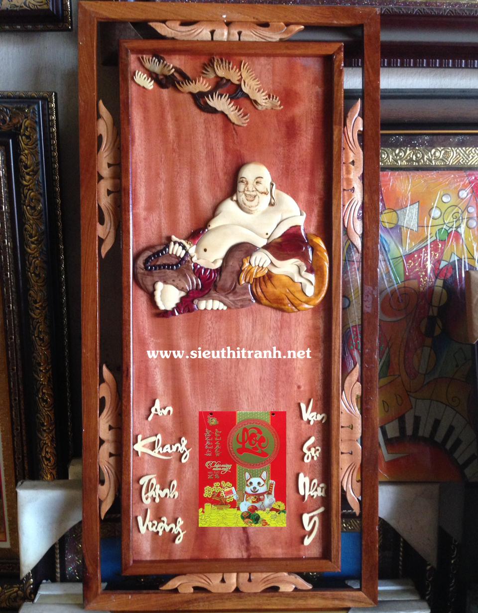 Đốc lịch gỗ ghép, Phật Di Lặc -TG177