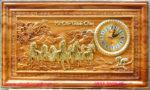 Tranh đồng hồ-Mã Đáo Thành Công , gỗ gõ đỏ -TG228