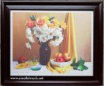 Tranh lụa tĩnh vật hoa quả IL075