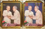 Bác Hồ & Bác Tôn, ảnh tranh in dầu-IN82
